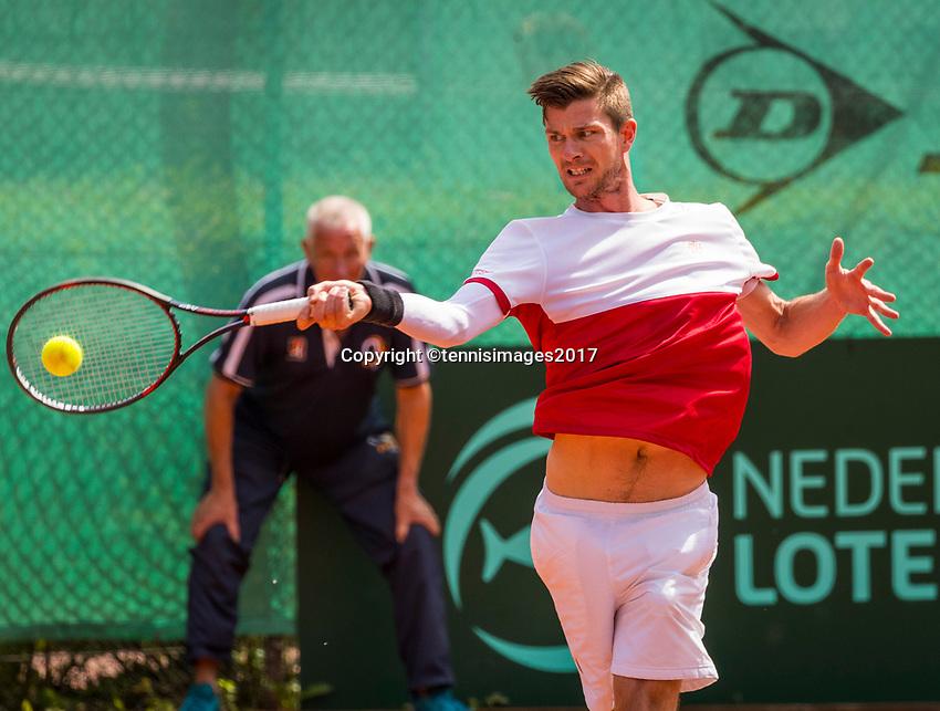 The Hague, Netherlands, 11 June, 2017, Tennis, Play-Offs Competition, Antal van der Duim, Egeria Alta<br /> Photo: Henk Koster/tennisimages.com