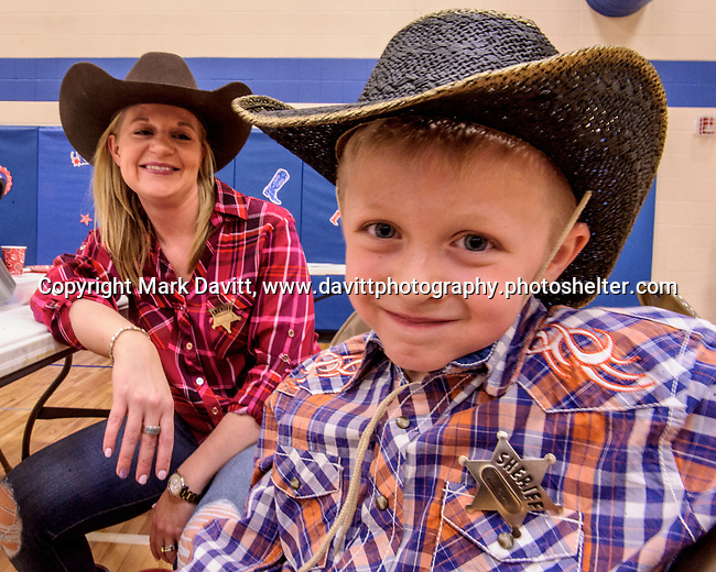 Bondurant hosted a Mother and Son Hoedown March 25 at Anderson Elementary. Everyone had a rootin' tooting' time with lots of snacks, games, crafts, music and dancing too. Meredyth Dishman enjoyed spending the evening with her escort for the night, her son Trace.