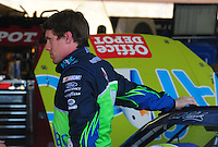 Apr 10, 2008; Avondale, AZ, USA; NASCAR Sprint Cup Series driver Carl Edwards during practice for the Subway Fresh Fit 500 at Phoenix International Raceway. Mandatory Credit: Mark J. Rebilas-