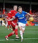 03.03.2019 Aberdeen v Rangers: Lewis Ferguson and Scott Arfield