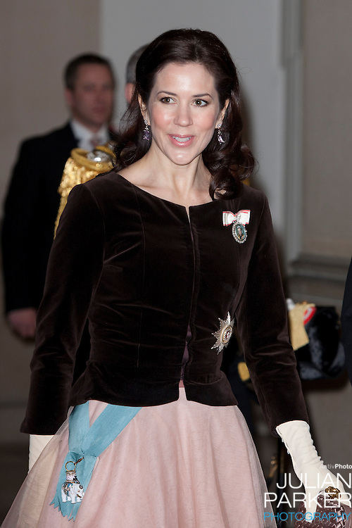 Crown Princess Mary of Denmark, attends the Grand New Years Court at Christiansborg Palace, in Copenhagen, Denmark.