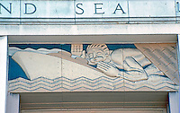 "San Diego: Old Main Post Office, ""WPA Moderne"" Symbols. Photo '82."