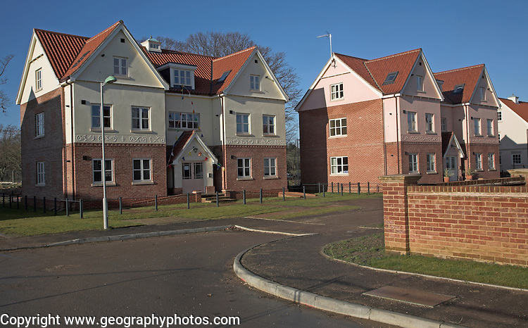 Maharishi Sthapatya Veda community or Peace Colony in Rendlesham, Suffolk, England--known as Maharishi Garden Village.  One of the largest Vastu community projects in the world.