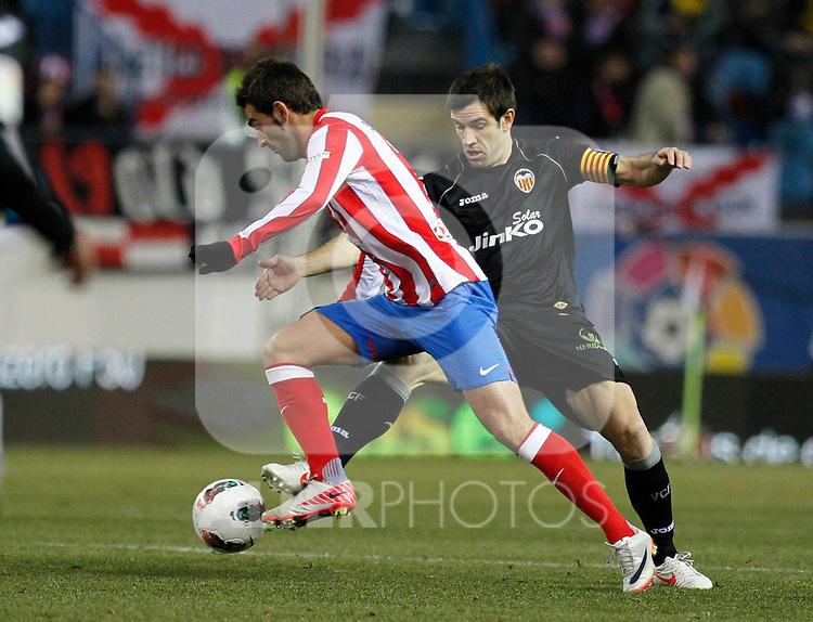 Madrid (05/02/2012) LIGA BBVA.Atletico de Madrid- Valencia C.F...ADRIAN, ALBELDA.....