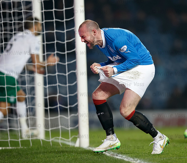 Kris Boyd shows his agony after failing to score