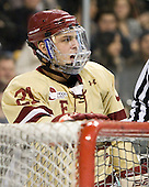 Steven Whitney (BC - 21) - The Boston College Eagles defeated the Northeastern University Huskies 7-1 in the opening round of the 2012 Beanpot on Monday, February 6, 2012, at TD Garden in Boston, Massachusetts.