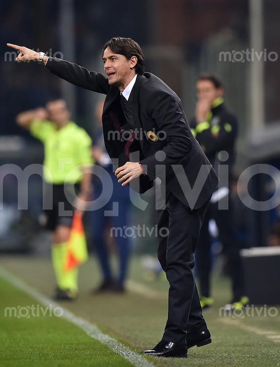FUSSBALL INTERNATIONAL   SERIE A   SAISON  2014/2015   11. Spieltag Sampdoria Genua - AC Mailand                     08.11.2014 Trainer Filippo Inzaghi (AC Mailand)