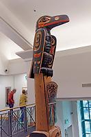 James Hart totem pole in the Bill Reid Gallery of Northwest Coast Art, Vancouver, British Columbia, Canada