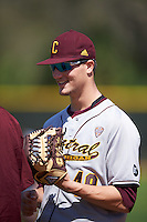 Central Michigan Chippewas relief pitcher Zach Kohn (49) during practice before a game against the Boston College Eagles on March 3, 2017 at North Charlotte Regional Park in Port Charlotte, Florida.  Boston College defeated Central Michigan 5-4.  (Mike Janes/Four Seam Images)