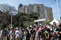 SAO PAULO, SP - 26.06.2016 - SKATE-SP - Skatistas participam do Skate Day 2016, onde percorrem entre Avenida Paulista e a Praça Roosevelt no centro da cidade de São Paulo neste domingo (26).(Foto: Fabricio Bomjardim / Brazil Photo Press)