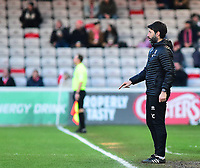 Lincoln City manager Danny Cowley shouts instructions to his team from the technical area<br /> <br /> Photographer Andrew Vaughan/CameraSport<br /> <br /> The EFL Sky Bet League Two - Lincoln City v Newport County - Saturday 22nd December 201 - Sincil Bank - Lincoln<br /> <br /> World Copyright © 2018 CameraSport. All rights reserved. 43 Linden Ave. Countesthorpe. Leicester. England. LE8 5PG - Tel: +44 (0) 116 277 4147 - admin@camerasport.com - www.camerasport.com