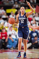 College Park, MD - DEC 29, 2016: Connecticut Huskies guard Saniya Chong (12) brings the ball up court during the game between No. 1 UConn and the No. 3 Terrapins at the XFINITY Center in College Park, MD. UConn defeated Maryland 87-81. (Photo by Phil Peters/Media Images International)