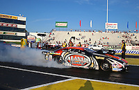 May 31, 2013; Englishtown, NJ, USA: NHRA pro mod driver Mike Castellana during qualifying for the Summer Nationals at Raceway Park. Mandatory Credit: Mark J. Rebilas-