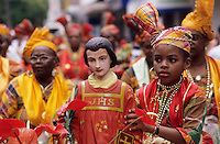 Europe/France/DOM/Antilles/Petites Antilles/Guadeloupe/Pointe-à-Pitre : Fête des cuisinières - Saint-Laurent patron des cuisinières est promené dans les rues de la ville