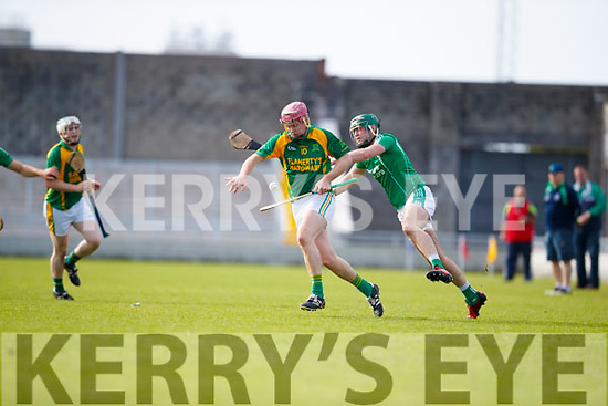 Eoin Ross Ballyduff in action against Sean Maunsell Kilmoyley in the Senior County Championship Semi Finals at Austin Stack Park on Sunday.