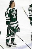 Tyler Sikura (Dartmouth - 16) - The Harvard University Crimson tied the visiting Dartmouth College Big Green 3-3 in both team's first game of the season on Saturday, November 1, 2014, at Bright-Landry Hockey Center in Cambridge, Massachusetts.