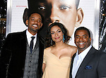 """WESTWOOD, CA. - December 16: Actor Will Smith, Actress Rosario Dawson and Actor Alfonso Ribeiro arrive at the Los Angeles premiere of """"Seven Pounds"""" at Mann's Village Theater on December 16, 2008 in Los Angeles, California."""