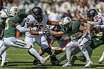 Oklahoma State Cowboys offensive lineman Dylan Galloway (76) in action during the game between the OSU Cowboys and the Baylor Bears at the McLane Stadium in Waco, Texas.