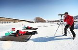 USA, Utah, Midway, Soldier Hollow, learning how to Biathlon, shooting and sighting targets