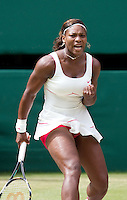 Serena Williams (USA) (1) against Petra Kvitova (CZE) in the semi-finals of the ladies singles. Serena Williams beat Petra Kvitova 7-6 6-2   ..Tennis - Wimbledon Lawn Tennis Championships - Day 11 Fri 2nd Jul 2010 -  All England Lawn Tennis and Croquet Club - Wimbledon - London - England..© FREY - AMN IMAGES  Level 1, Barry House, 20-22 Worple Road, London, SW19 4DH.TEL - +44 (0) 20 8947 0100.Email - mfrey@advantagemedianet.com.www.advantagemedianet.com