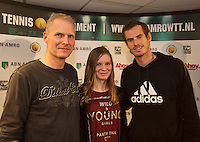 12-02-14, Netherlands,Rotterdam,Ahoy, ABNAMROWTT,Meet and greet Andy Murray <br /> Photo:Tennisimages/Henk Koster