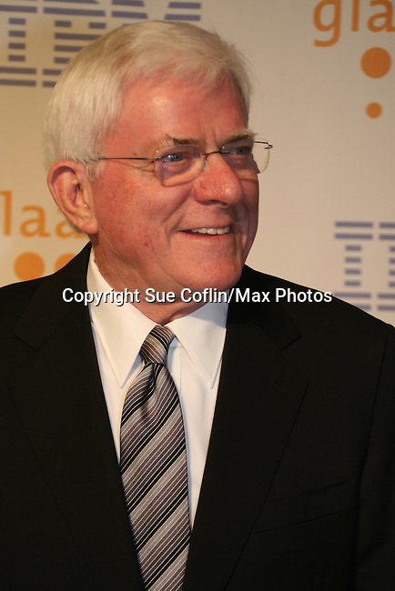 Phil Donahue at the 20th Annual GLAAD Media Awards on March 28, 2009 at the New York Marriott, New York City, NY. (Photo by Sue Coflin/Max Photos)