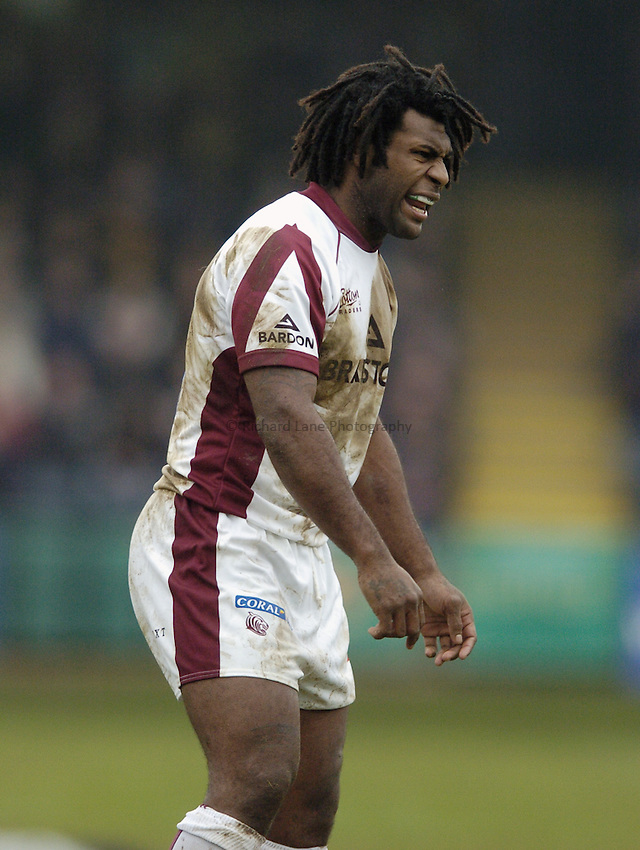 Photo: Jonathan Butler..Worcester Warriors v Leicester Tigers. Guinness Premiership. 17/02/2007..Seru Rabeni of Leicester Tigers.