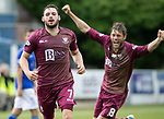 Queen of the South v St Johnstone&hellip;18.08.18&hellip;  Palmerston    BetFred Cup<br />Drey Wright celebrates his goal with Murray Davidson<br />Picture by Graeme Hart. <br />Copyright Perthshire Picture Agency<br />Tel: 01738 623350  Mobile: 07990 594431