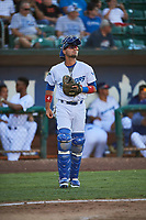 Ramon Rodriguez (3) of the Ogden Raptors during the game against the Missoula Osprey at Lindquist Field on July 12, 2018 in Ogden, Utah. Missoula defeated Ogden 11-4. (Stephen Smith/Four Seam Images)