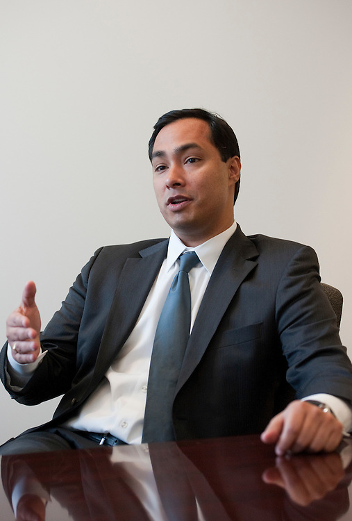 UNITED STATES - FEBRUARY 02:  Candidate Joaquin Castro, D-Texas, is interviewed in Roll Call's Washington offices.  (Photo By Tom Williams/CQ Roll Call)