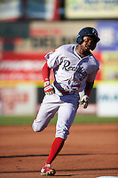 Reading Fightin Phils center fielder Roman Quinn (4) runs the bases after hitting a home run during a game against the Portland Sea Dogs on May 31, 2016 at Hadlock Field in Portland, Maine.  Reading defeated Portland 6-4.  (Mike Janes/Four Seam Images)