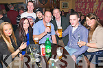 Ringing in the New Year: Patrons of Speedie's Bar, Moyvane ringing in the New Year. L-R: Denise Holly, Jacinta Hughes, Damian Lynch, Matthew Murphy, Declan Lynch, Pat Scanlon, Billy Walsh & Michelle Brosnan.