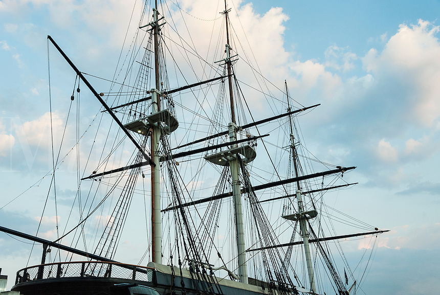Civil War vessel USS Constellation, Inner Harbor, Baltimore, Maryland, USA