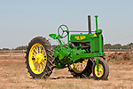 Annual fall Gas-Up at McFarland Ranch near Galt, Calif. of Branch 13, Early-Day Gas Engine and Tractor Association. (EDGE & TA)..John Boehm's John Deere Model GP 1937 ANH Mod. A tractor