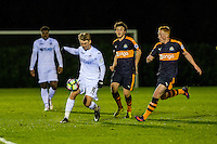 Monday 16 January 2017<br /> Pictured: George Byers Swansea City in action <br /> Re: During the Swansea City U23's match against Newcastle United U23's at the Landore Training facility, Swansea Wales UK