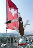 SWITZERLAND swiss knife factory Victorinox in Schwyz / SCHWEIZ, Firma Victorinox in Schwyz stellt die weltberuehmten Schweizer Taschenmesser her