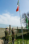 Presentation Secondary School  Proclamation Day Members of the Irish Defence Forces Lieutenant Damien Ginty,  and  Sergeant David Locke gave their traditional Salute after raising  the Irish flag   on Tuesday