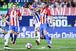 Deportivo Alaves's Manu and Atletico de Madrid's Saul Iniguez during the match of La Liga Santander between Atletico de Madrid and Deportivo Alaves at Vicente Calderon Stadium. August 21, 2016. (ALTERPHOTOS/Rodrigo Jimenez)