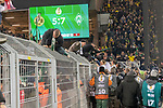 05.02.2019, Signal Iduna Park, Dortmund, GER, DFB-Pokal, Achtelfinale, Borussia Dortmund vs Werder Bremen<br /> <br /> DFB REGULATIONS PROHIBIT ANY USE OF PHOTOGRAPHS AS IMAGE SEQUENCES AND/OR QUASI-VIDEO.<br /> <br /> im Bild / picture shows<br /> <br /> Feature Anzeigentafel Endtand 5:7 <br /> <br /> Foto &copy; nordphoto / Ewert