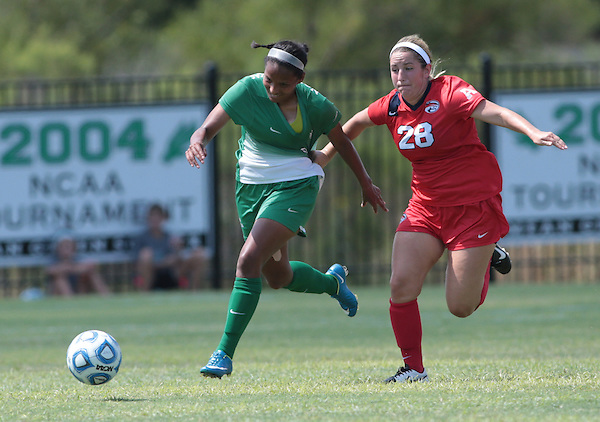 DENTON, TX - SEPTEMBER 6: North Texas  Mean Green Soccer v Rice at North Texas Soccer Complex in Denton on September 6, 2015 in Denton, Texas. (Photo by Rick Yeatts)