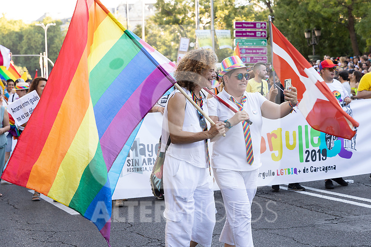 Manifestation of the lgtb pride party of Madrid. July 6, 2019. (ALTERPHOTOS/JOHANA HERNANDEZ)