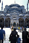 Entrance to the Blue  Mosque in Istanbul, Turkey