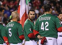 Mexico Team. Equipo de Mexico.<br />  Brandon Laird (5), Adrian Gonzalez (23), Japhet Amador (42), Efren Navarro (24).<br />  <br /> https://www.worldbaseballclassic.com/teams/mex<br /> Aspectos del partido Mexico vs Italia, durante Cl&aacute;sico Mundial de Beisbol en el Estadio de Charros de Jalisco.<br /> Guadalajara Jalisco a 9 Marzo 2017 <br /> Luis Gutierrez/NortePhoto.com