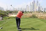 Edoardo Molinari (ITA) teeing off on the 8th.on day one of the Omega Dubai Desert Classic 2011 on the Majlis Course, Emirates Golf Club, Dubai, UAE. 10/02/2011.Picture Fran Caffrey/www.golffile.ie.