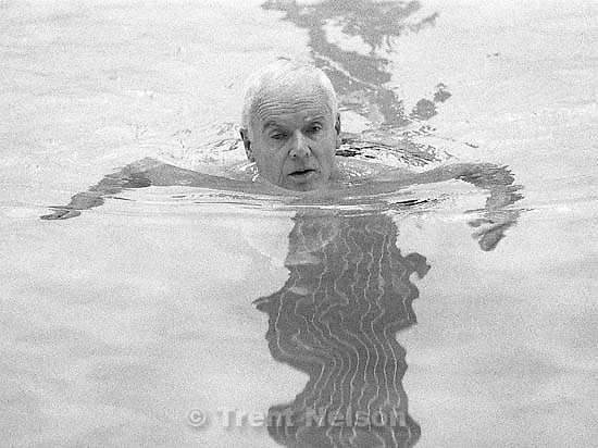 Jim Nolan swimming at the Deseret Gym. &quot;Oh do I have feelings. The church has emphasized the Deseret Gym and now it's no longer important. This is very important. The people who made the decision don't use it, don't exercise. This place has helped me stabilize my life. This building was built to last 300 years, it's beautiful. I think the church is making a bad choice. I wish people had gotten together. Maybe we could have made a difference.&quot;<br />