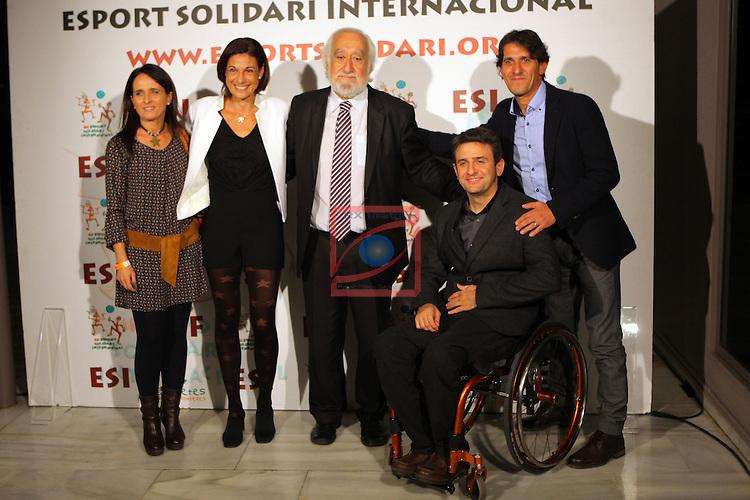 XIe Sopar Solidari d'ESI (Esport Solidari Internacional).<br /> Josep Maldonado, Isidre Esteve y acompa&ntilde;antes.