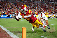 Los Angeles, CA - September 7, 2019:  Stanford Football falls to USC 45-20 at Los Angeles Memorial Coliseum.