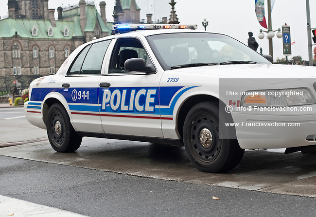 Ottawa Police car is seen during a police memorial parade in Ottawa Sunday September 26, 2010.