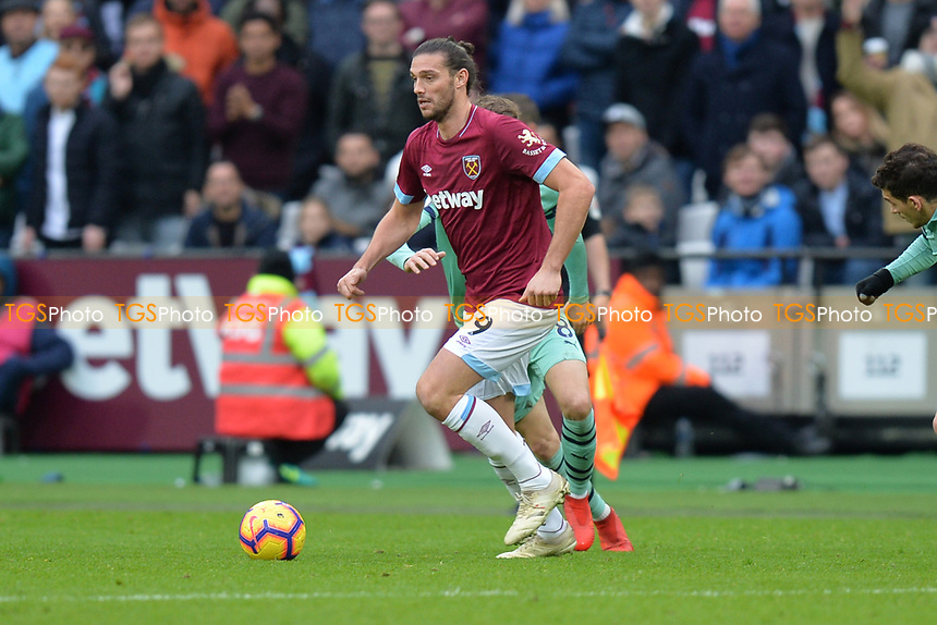 Andy Carroll of West Ham United during West Ham United vs Arsenal, Premier League Football at The London Stadium on 12th January 2019