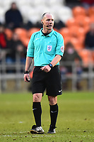 Referee Scott Duncan looks on<br /> <br /> Photographer Richard Martin-Roberts/CameraSport<br /> <br /> The EFL Sky Bet League One - Blackpool v Walsall - Saturday 10th February 2018 - Bloomfield Road - Blackpool<br /> <br /> World Copyright &not;&copy; 2018 CameraSport. All rights reserved. 43 Linden Ave. Countesthorpe. Leicester. England. LE8 5PG - Tel: +44 (0) 116 277 4147 - admin@camerasport.com - www.camerasport.com